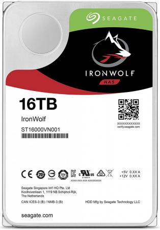 "Накопитель на жестком магнитном диске Seagate Жесткий диск HDD 16Tb IronWolf ST16000VN001 3.5"" SATA 6Gb/s 64Mb 7200rpm для NAS"