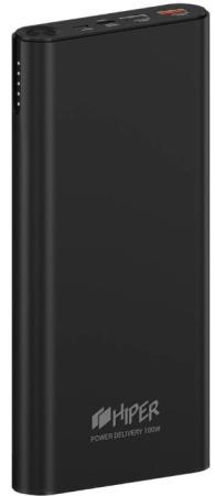 Фото - Аккумулятор HIPER Внешний аккумулятор HIPER ForcePower 100W Li-Ion 20000 mAh Aluminum QC+PD 100W 3A+2.4A+20V/5A 2xUSB 1xType-C черный внешний аккумулятор hiper spx10000 black