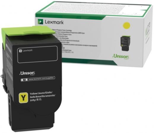 Фото - Картридж Lexmark сверхвысокой емкости с желтым тонером (контрактный) 5000 стр. для CS421dn, CX421adn картридж lexmark высокой емкости с черным тонером cs923