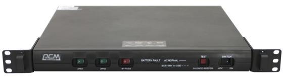 Источник бесперебойного питания Powercom Источник бесперебойного питания Powercom King Pro RM, Интерактивная, 1000 ВА / 800 Вт, Rack, IEC, LCD, USB, USB