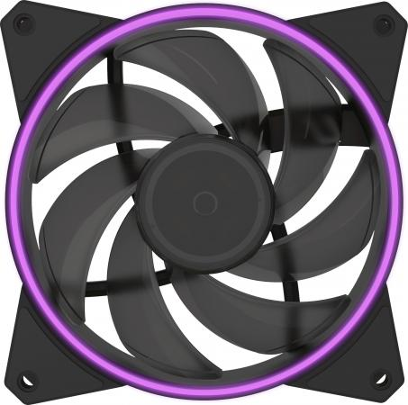 Cooler Master MF122R RGB LED Fan, PWM cooler master masterfan pro 120 air pressure 120mm 4 pin pwm rgb 3 pcs mfp rgb led controller