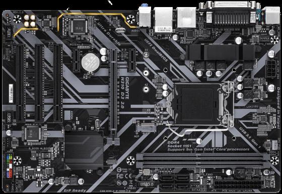 Купить Материнская плата GigaByte H310 D3 2.0 Socket 1151 v2 H310 2xDDR4 1xPCI-E 16x 3xPCI 2xPCI-E 1x 4 ATX Retail