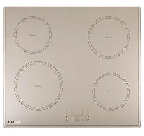 Индукционные варочные панели Graude/ Classic, Индукционная, 590 х 60 х 520 мм, Сенсорное управление, 9 ступеней нагрева, Функция таймера, Индикация остаточного тепла, Автоматическое отключение, Защита от детей, функция распознавания посуды, Исполнение: без рамки, бежевая