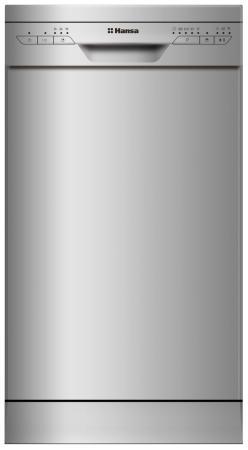 лучшая цена Посудомоечная машина Hansa ZWM475SEH серебристый (узкая)