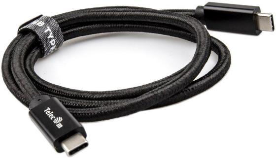 Фото - Кабель Type-C 1м VCOM Telecom TC420B круглый черный кабель usb type c 1м vcom telecom cu420 круглый черный