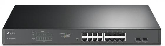 16-port Gigabit PoE Easy Smart switch, 802.3af on ports 1-16, budget 192 watts, desktop and rack-mountable