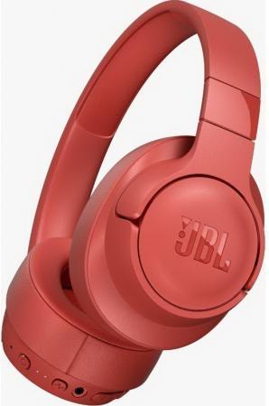 Наушники JBL Наушники беспроводные с активным шумоподавлением JBLT750BTNCCOR, красный наушники jbl наушники беспроводные c шумоподавлением t600bt 32 ом синий
