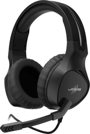 мониторы дыхания Наушники с микрофоном Hama uRage SoundZ 300 черный 2.2м мониторы оголовье (00186009)