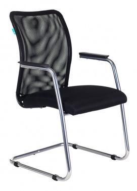 Кресло Бюрократ CH-599AV/TW-11 на полозьях черный TW-01 сиденье черный TW-11 кресло компьютерное бюрократ бюрократ ch 555 tw 12