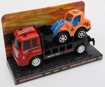 Купить Автовоз инерц. со строительной техникой, цвет в ассорт. в пласт. в кор.2*48шт, Shantou, Детские модели машинок