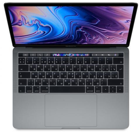 Купить Ноутбук Apple MacBook Pro 13.3 2560x1600 Intel Core i7-8569U 256 Gb 16Gb Bluetooth 5.0 Iris Plus Graphics 655 серый macOS Z0WQ000ER