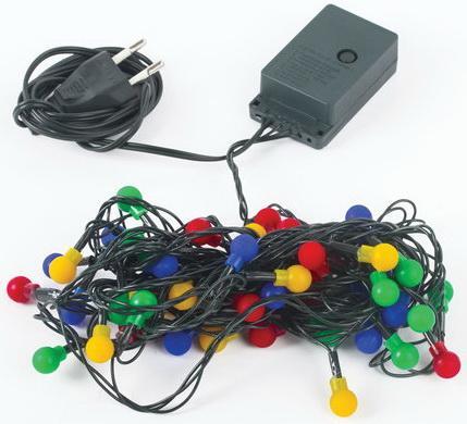 """Электрогирлянда светодиодная ЗОЛОТАЯ СКАЗКА """"Шарики"""", 50 ламп, 5 м, многоцветная, контроллер, 591103 richled контроллер 1 5 м rl cn2 220"""