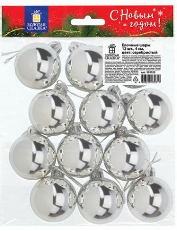 Шары елочные ЗОЛОТАЯ СКАЗКА, НАБОР 12 шт., пластик, 4 см, СЕРЕБРИСТЫЕ, глянец, подвес, 591125 исследовательский набор огненные шары
