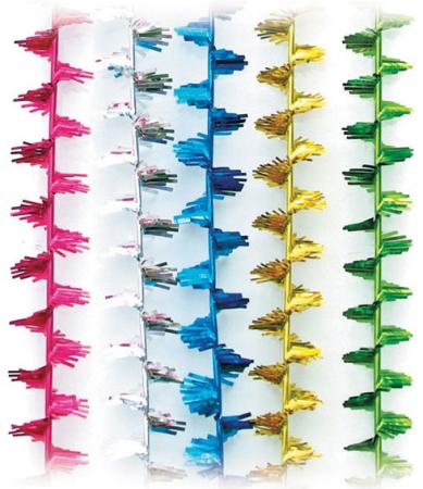Фото - Мишура Искорка, 1 штука, диаметр 20 мм, длина 2 м, ассорти 5 цветов, М-117 мишура одноцветная 30 мм длина 2 м пвх