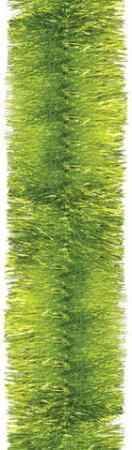 лучшая цена Мишура 1 штука, диаметр 70 мм, длина 2 м, лимонно-желтый с серебром, 5-180-7