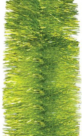 лучшая цена Мишура 1 штука, диаметр 100 мм, длина 2 м, лимонно-желтый с серебром, 5-180-10