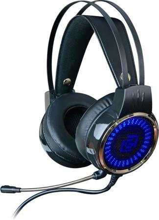 Наушники с микрофоном Oklick HS-L700G INFINITY черный 2.2м мониторы оголовье (HS-L700G) цена в Москве и Питере