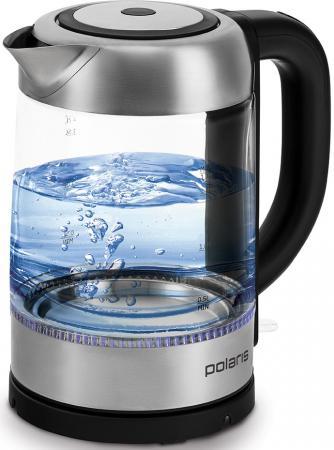 Чайник электрический Polaris PWK 1776CGL 1.7л. 2200Вт черный (корпус: стекло) чайник электрический polaris pwk 1719cgl 2200вт серебристый