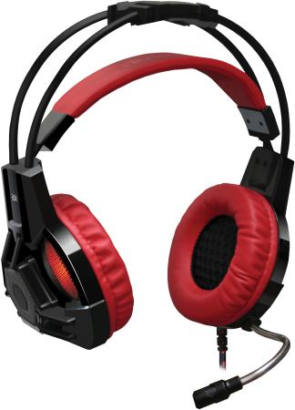 Фото - Гарнитура Defender Lester красный + черный, кабель 2,2 м наушники defender trendy 705 сиренев черный