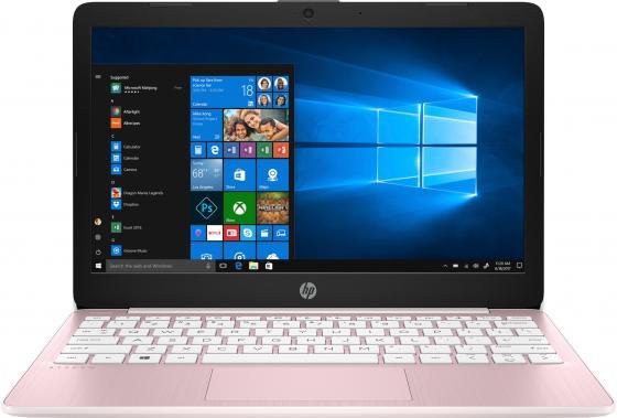 Ноутбук 11.6 HD HP Stream 11-aj0002ur pink (Cel N4000/4Gb/64Gb SSD/noDVD/VGA int/W10) (8PJ70EA) ноутбук hp stream 14 ax018ur 2eq35ea