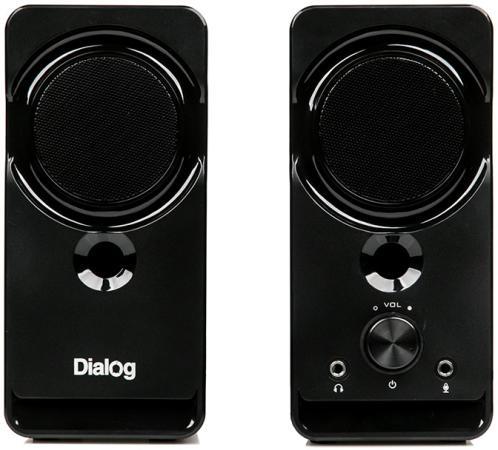 Dialog Stride AST-22UP - акустические колонки 2.0, 8W RMS, Phone Out, Mic In, черные, питание от USB колонки dialog disco ad 05 cherry 20w rms 2 0