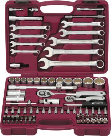 UTS0082/12 Набор инструмента универсальный 1/4, 1/2DR с головками торцевыми 12-гранными, 82 предме цена
