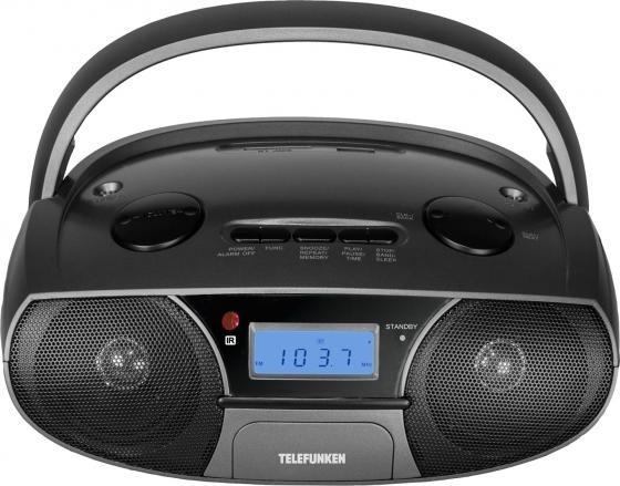 Аудиомагнитола Telefunken TF-SRP3446 черный 3Вт/CD/CDRW/MP3/FM(dig)/USB/SD аудиомагнитола telefunken tf csrp3494b черный 2вт cd cdrw mp3 fm an usb bt sd mmc