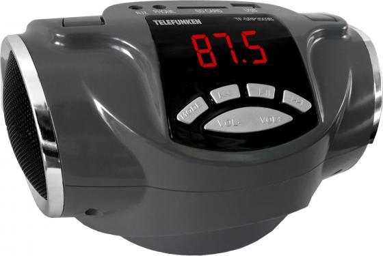 Аудиомагнитола Telefunken TF-SRP3503B серый 6Вт/MP3/FM(dig)/USB/BT/SD