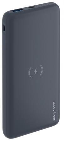 Фото - Внешний аккумулятор Deppa NRG Qi 10000 мАч, Qi 10W и QC/PD 18W, беспроводная зарядка внешний аккумулятор deppa nrg turbo compact 10000 мач qc pd 3 0 18w led экран