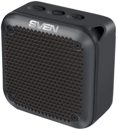 SVEN PS -88, черный (7 Вт, Waterproof (IPx7), TWS, Bluetooth, microSD, карабин, 1500мА*ч)