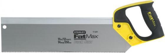 Ножовка STANLEY 2-17-202 по дереву fatmax с обушком универсальная с закаленным зубом 13х350мм ножовка по дереву stht20349 1 stanley