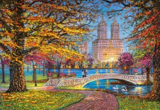 Купить Пазлы 1500 Центральный парк, Нью-Йорк, Кастор, Пазлы (700-3000 элементов)