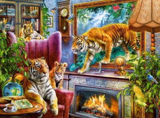 Пазлы 3000 Тигры. Возвращение в реальность цена