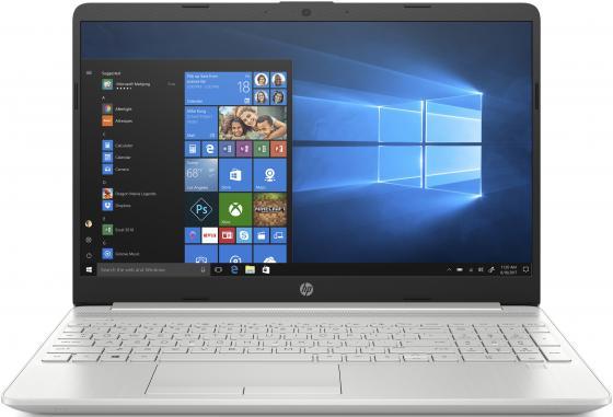 "Ноутбук 15.6"" HD HP 15-dw0075ur silver (Core i5 8265U/4Gb/256Gb SSD/noDVD/MX130 2Gb/DOS) (8RS36EA) ноутбук hp 250 g5 w4q08ea core i5 6200u 8gb 256gb ssd amd r5 m430 2gb 15 6 dvd dos silver"
