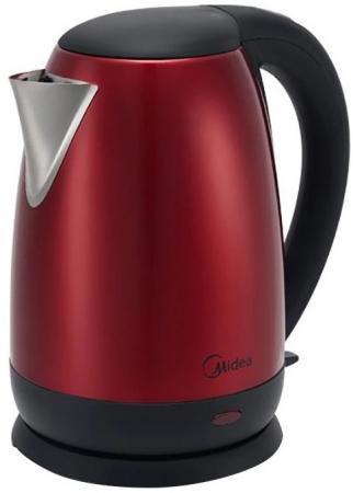 цена на Чайник электрический Midea MK-8040 1.7л. 2200Вт красный (корпус: нержавеющая сталь)