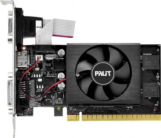 Видеокарта Palit PCI-E PA-GT710-2GD5 nVidia GeForce GT 710 2048Mb 64bit GDDR5 954/2500 DVIx1/HDMIx1/CRTx1/HDCP Bulk видеокарта powercolor pci e ax5450 2gbk3 shv7e amd radeon hd 5450 2048mb 64bit ddr3 650 800 dvix1 hdmix1 crtx1 hdcp ret