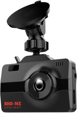 Видеорегистратор с радар-детектором Sho-Me Combo Super Smart GPS ГЛОНАС черный