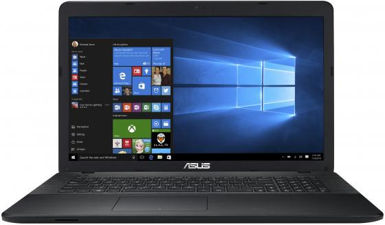 "Ноутбук Asus X751NA-TY083R Pentium N4200 (1.1)/4G/500G/17.3""HD+ GL/Int:Intel HD/DVD-SM/BT/Win10Pro (Black) ноутбук lenovo ideapad 100 15ibd i3 5005u 2 0 4g 500g 15 6 hd gl int intel hd dvd sm win10 80qq003vrk black"
