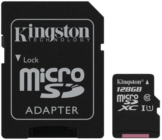 Фото - Micro SecureDigital 128Gb Kingston SDCS2/128GB {MicroSDXC Class 10 UHS-I, SD adapter} карта памяти micro securedigital 128gb kingston canvas select plus sdxc class 10 uhs i sdcs2 128gb sd adapter