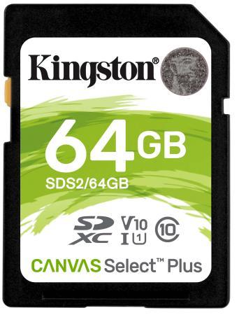 SecureDigital 64Gb Kingston SDS2/64GB {SDXC Class 10, UHS-I} kingston digital ultimate flash sdxc memory card golden 64gb class 10 uhs i