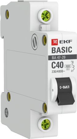 EKF mcb4729-1-40C Автоматический выключатель 1P 40А (C) 4,5кА ВА 47-29 EKF Basic
