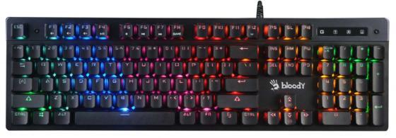 лучшая цена Клавиатура проводная A4TECH Bloody B500N USB черный