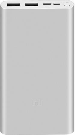 Мобильный аккумулятор Xiaomi Mi Power Bank 3 PLM13ZM Li-Pol 10000mAh 2.4A серебристый 2xUSB недорого