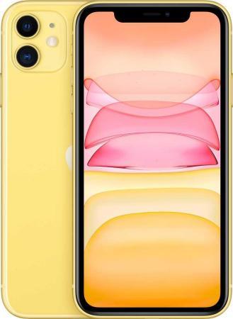 "Смартфон Apple iPhone 11 желтый 6.1"" 256 Гб NFC LTE Wi-Fi GPS 3G Bluetooth MWMA2RU/A смартфон apple iphone 6 plus серый 5 5 64 гб nfc lte wi fi gps mgah2ru a"