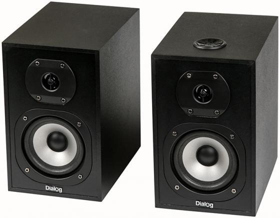Колонки Dialog Blues AB-03 BLACK 2.0 (2*18W RMS, Bluetooth, FM, USB) колонки dialog disco ad 05 cherry 20w rms 2 0