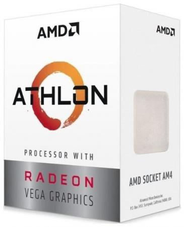 Процессор AMD Athlon 3000G AM4 (YD3000C6FHBOX) (3.5GHz/100MHz/Radeon Vega 3) Box процессор amd athlon x4 840k fm2 ad840xybjabox 3 1ghz 5000mhz box