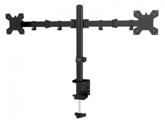 Фото - Кронштейн для мониторов ЖК Buro M052 черный 15-32 макс.8кг крепление к столешнице поворот и наклон кронштейн для мониторов жк buro m062 черный 17 27 макс 8кг потолочный поворот и наклон