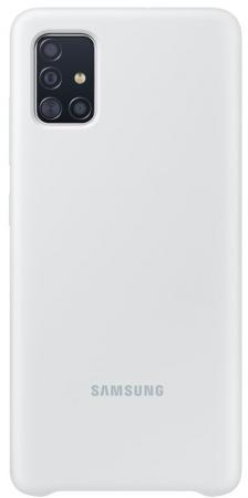 Чехол (клип-кейс) Samsung для Samsung Galaxy A51 Silicone Cover белый (EF-PA515TWEGRU) клип кейс oxy fashion fine для samsung galaxy j5 2016 прозрачный