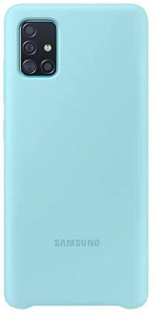 Чехол (клип-кейс) Samsung для Samsung Galaxy A51 Silicone Cover голубой (EF-PA515TLEGRU) клип кейс oxy fashion fine для samsung galaxy j5 2016 прозрачный