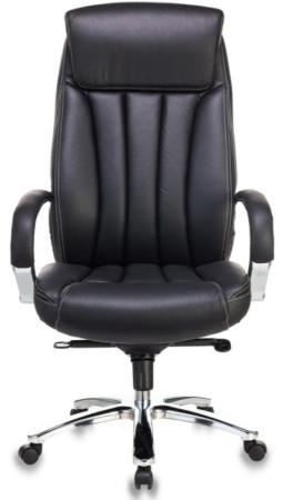 Кресло руководителя Бюрократ T-9922SL/BLACK черный кожа крестовина хром кресло руководителя college h 9582l 1k экокожа крестовина хром подлокотники кожа хром черный